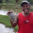Foto de Tilápia - tilapia pescada com minhoca e varinha de anzol pequeno