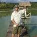Tucunaré de 800 gramas pescado com isca viva de Cará com bóia no Pesque & Pague San Diego.