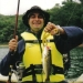 Foto de Acará - Meu amigo Kabello em sua primeira pescaria de Black. Estava pingusso, mas soltou o peixe, porque T um cara inteligente!