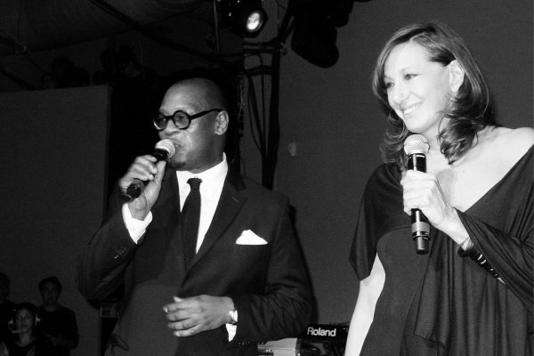 Andre Harrell and Donna Karan