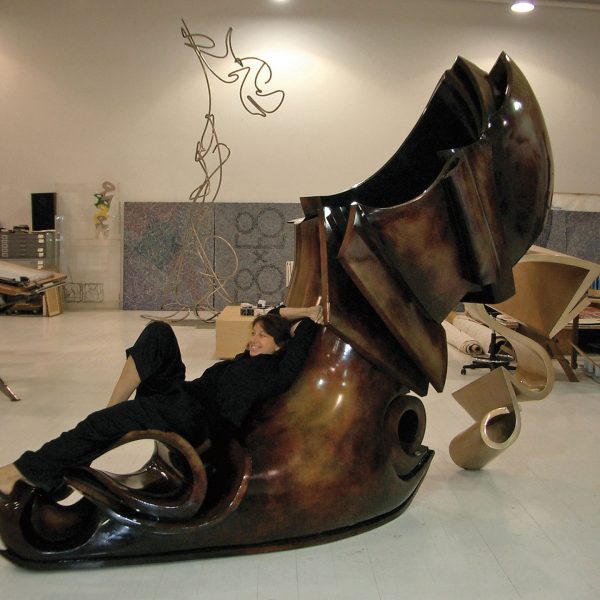 Donna Karan and Stephan's Shoe sculputure
