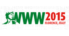 24th International world wide web conference logo