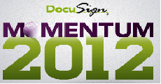 DocuSign MOMENTUM 2012 logo