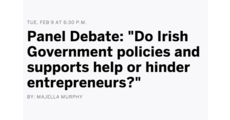 "Panel Debate: ""Do Irish Government policies and supports help or hinder entrepreneurs?"" logo"