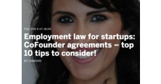 Employment law for startups: CoFounder agreements – top 10 tips to consider logo