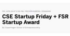 CSE Startup Friday + FSR Startup Award logo
