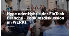 Hype oder Hybris der FinTech-Branche - Podiumsdiskussion im WERK1 logo