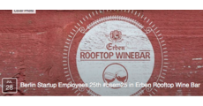 Berlin Startup Employees 25th #bsem25 in Erben Rooftop Wine Bar logo