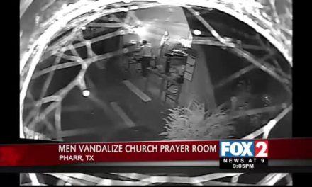 Suspect Caught on Camera Vandalizing Church Prayer Room