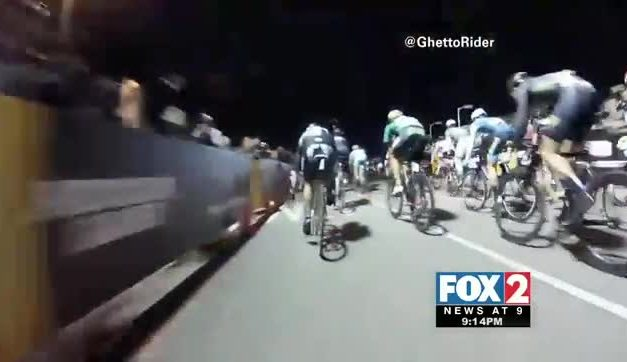Caught on Camera: Bicycle Race Ends in Massive Pileup