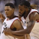 Carroll scores 21, Raptors beat Heat in OT to tie series
