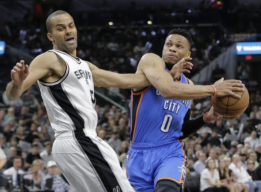 Westbrook leads Thunder past Spurs, 95-91, for 3-2 lead