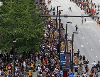 Cleveland Parties As Cavs' NBA Title Celebrated With Parade