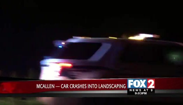 Man Drives Car Into Landscaping in McAllen