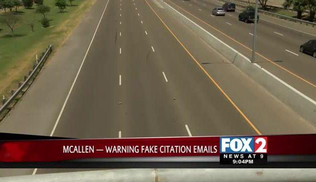 McAllen Fake Citation Email Scam Alert