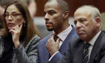 Ex-NFL star Darren Sharper arrives in court for sentencing