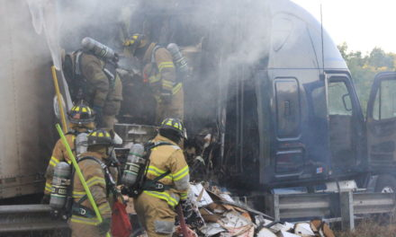 Extra crispy bacon, ribs: Truck carrying pork catches fire