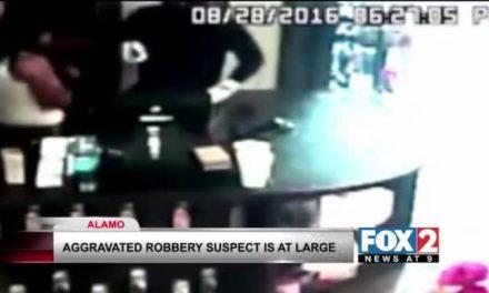 Robber Demands Money At Gunpoint in Alamo