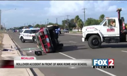 Rollover Accident in Front of Nikki Rowe High