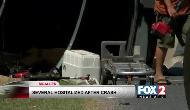 Several Hospitalized After Rollover