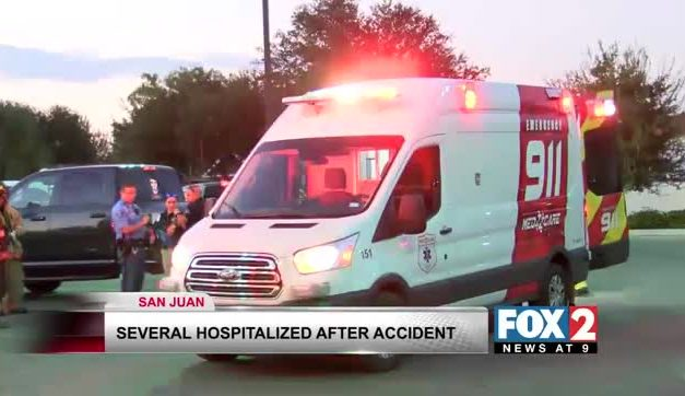 Several Hospitalized After Three Car Accident