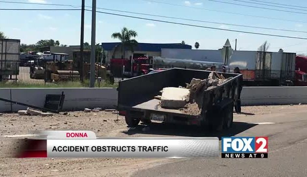 Traffic Backed-Up After Accident in Donna