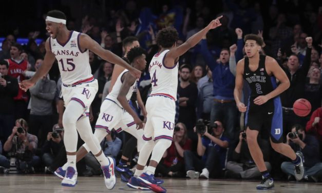 No. 7 Kansas beats No. 1 Duke 77-75 on jumper with 1.3 left