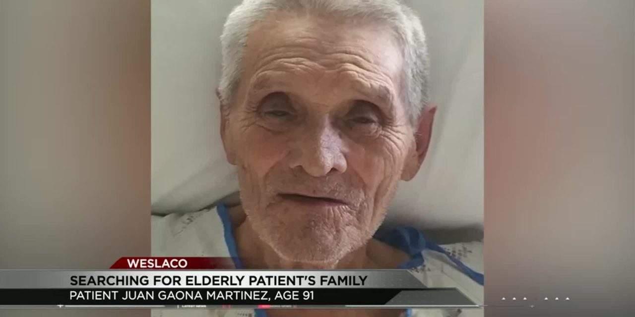 Public's Help Needed in Locating Elderly Patient's Family