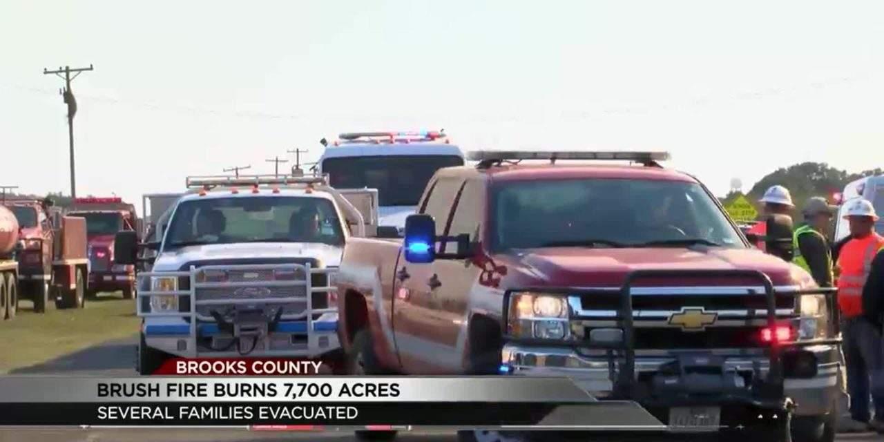 Firefighters Still Battling Blaze in Falfurrias