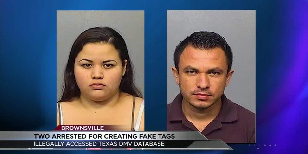 Two Arrested for Counterfeit Vehicle Tags