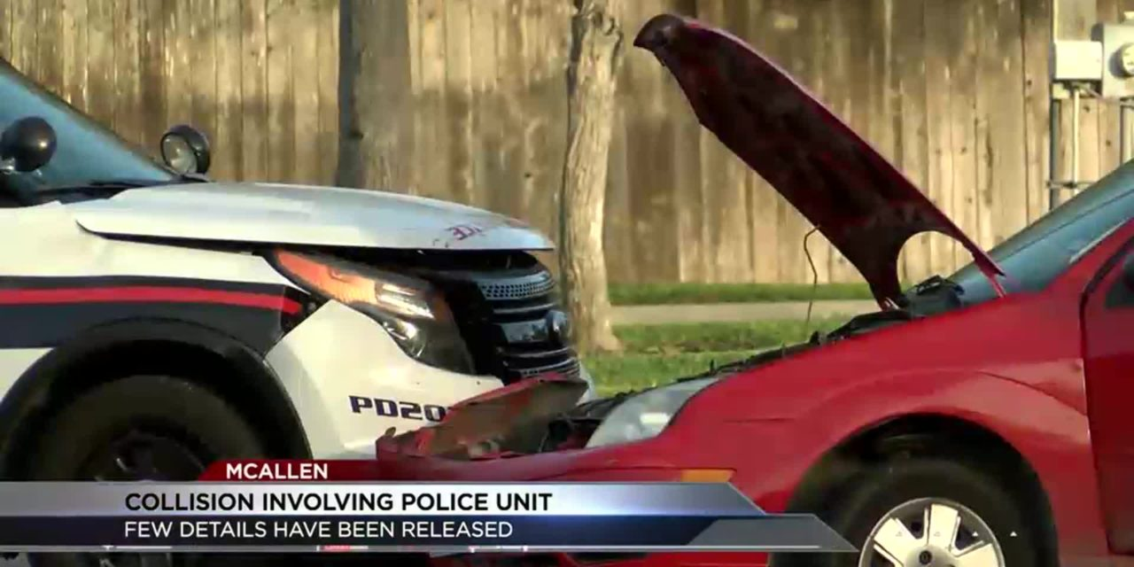 McAllen Police Investigate Patrol Car Accident
