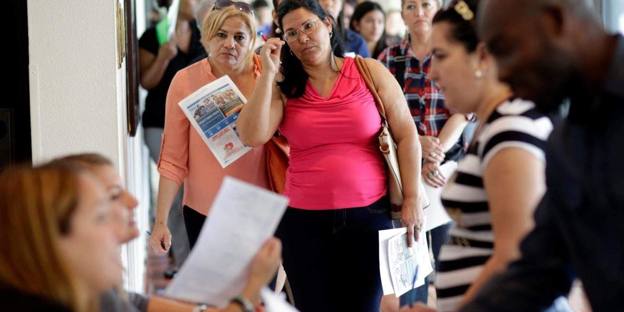 US added a healthy 227K jobs last month; rate up to 4.8 pct.