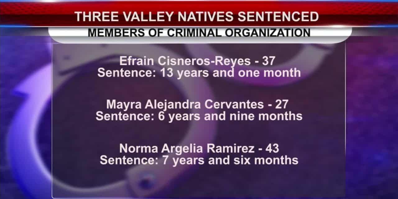 3 Sentenced for Criminal Activity