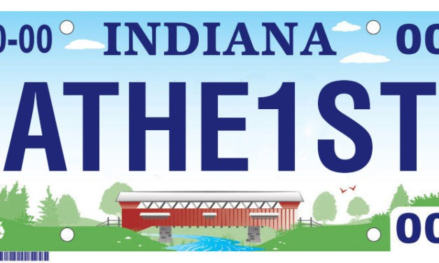 After fight, Indiana man receives 'ATHE1ST' license plate