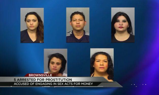 Prostitution Sting yields 5 arrests