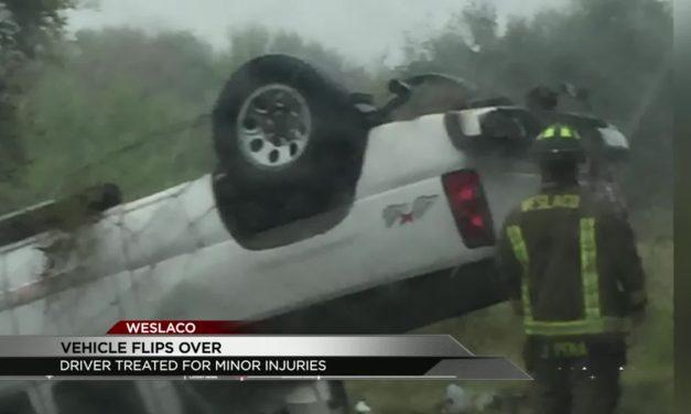 Vehicle Flips in Weslaco