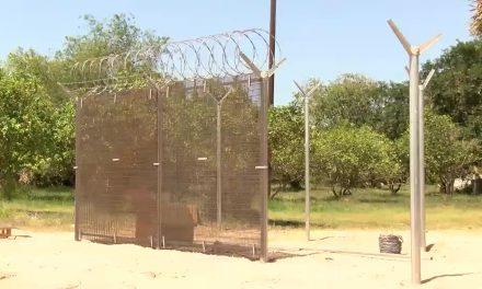 Man Builds Border Wall Prototype