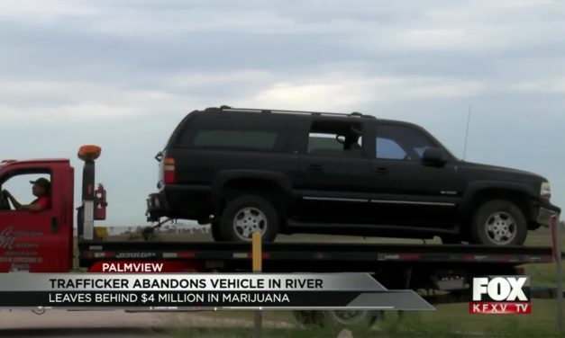 Trafficker Abandons Vehicle in River leaves $4 Million behind