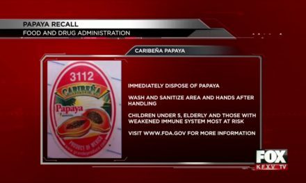 Papaya Recall after salmonella outbreak