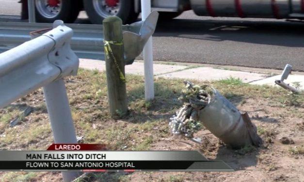 Laredo man taken to San Antonio hospital after crash