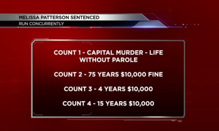 Patterson Sentenced to Life In Prison