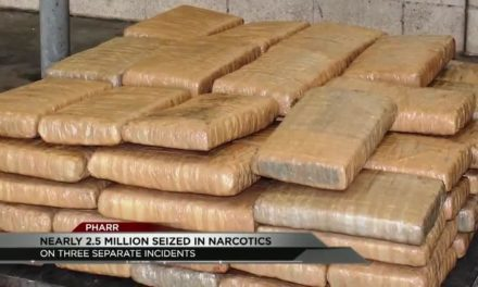 Nearly 2.5 million dollars in heroin and marijuana seized at the Pharr International Bridge.