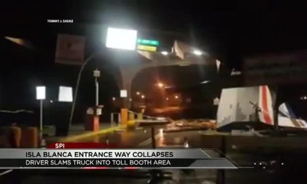 Isla Blanca Entrance Way Collapses