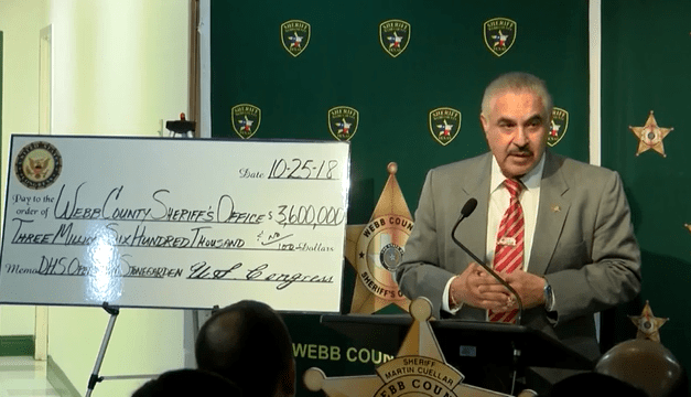 Webb County Receives $3.8 Million For Border Security