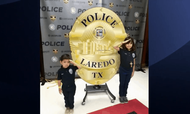 Two Children Named Honorary Laredo Police Officers