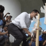Presidential Candidate Visits Immigrants Across The Border