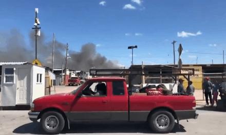 Fire Breaks Out At Alamo Flea Market