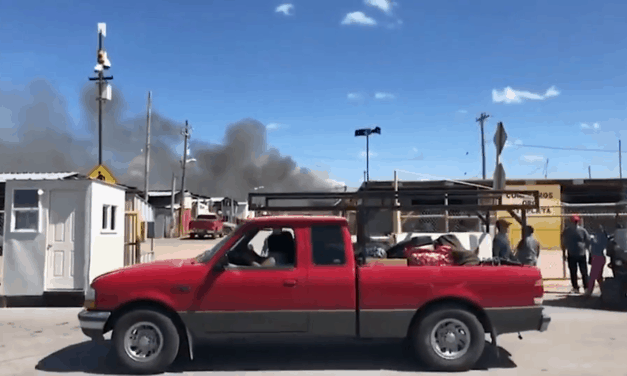 Fire Breaks Out At Alamo Flea Market