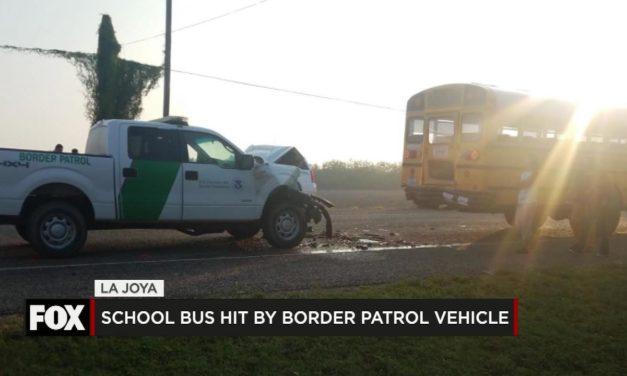 School Bus Hit by Border Patrol Vehicle