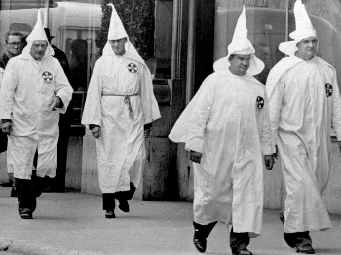 KKK Marching in front of Rich's in Atlanta